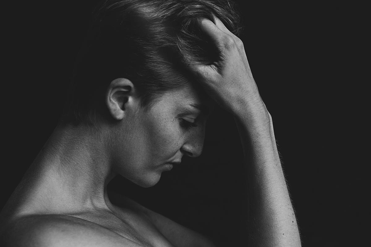 stark Ausdrucksstark Portrait schwarzweiß nachdenklich melancholisch Fotografie